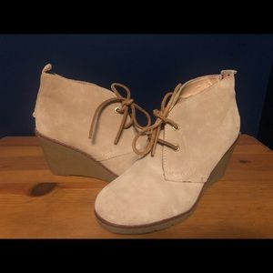 Sperry suede wedge booties